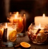 Cinnamon & Orange Gel Tumbler Scented Candle - now with natural wax