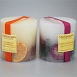 Stoneglow Scented Pillar Candles