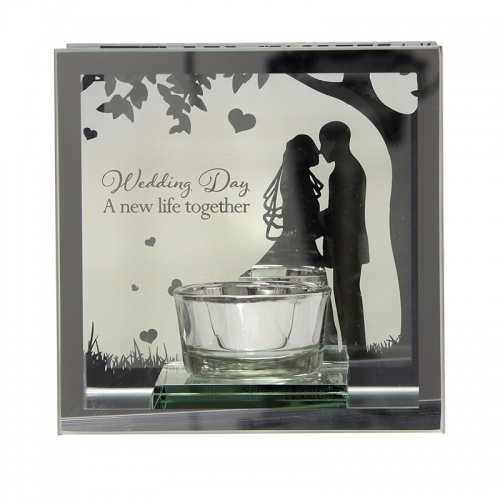 Reflections of the Heart Mirror Tealight - Wedding Day