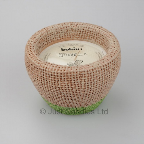 Citronella filled Jute Jar with the fresh smell of Basil