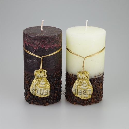 Luxury Coffee scented decorative pillar Candle