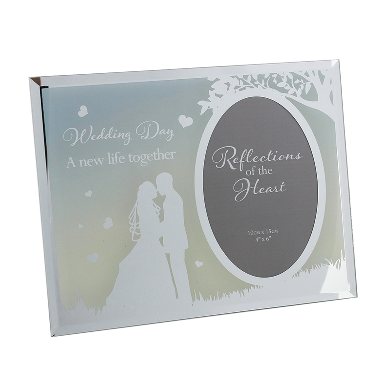 'Wedding day' Reflections of the Heart Photo frame