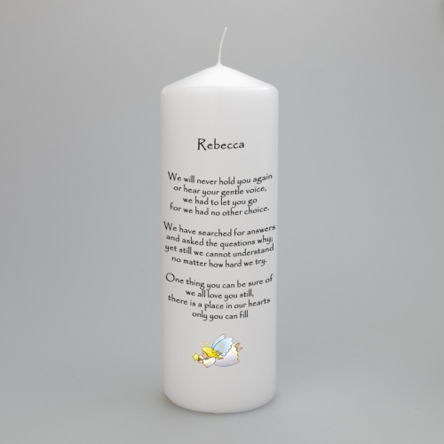 Personalised Memorial Remembrance Candle - Flying Angel