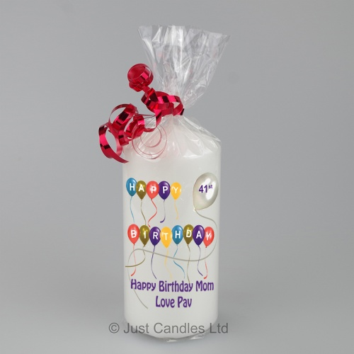 Happy Birthday candle with balloons