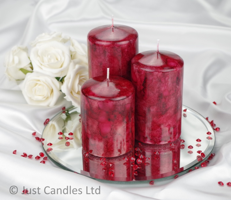 Ball Candles Maroon