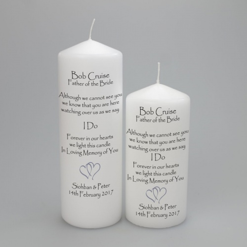 Wedding Absence candle Father/Mother of the bride/Groom
