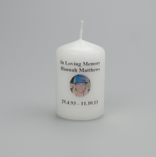 Small Picture Memorial candle