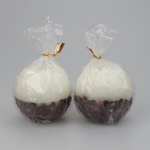A pair of luxury Coffee scented decorative ball Candles
