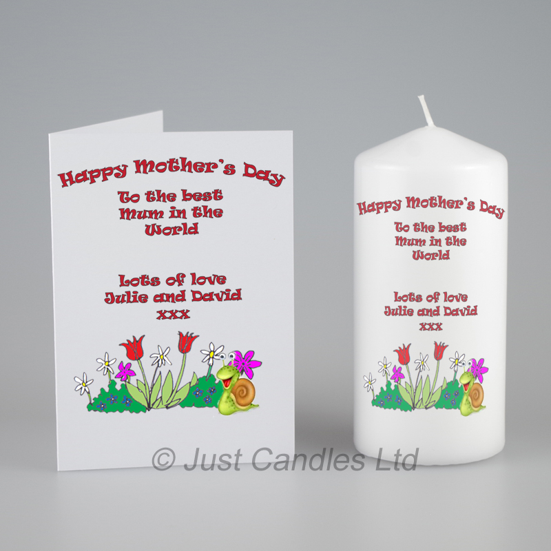 Personalised Card And Candle Gift Set For Mother S Day