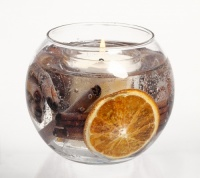 Cinnamon & Orange Gel Fish Bowl Scented Candle