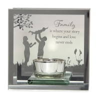 Reflections of the Heart Mirror Tealight - Family