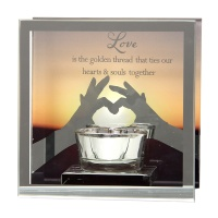 Reflections of the Heart Mirror Tealight - Love