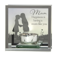 Reflections of the Heart Mirror Tealight - Mum