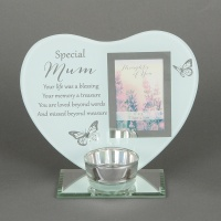 'Special Mum' Memorial Tealight holder and photo frame