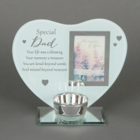 'Special Dad' Memorial Tealight holder and photo frame