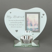 'My Husband' Memorial Tealight holder and photo frame