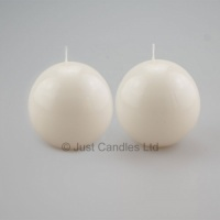 80mm dia Ball Candles White
