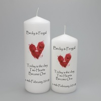 Personalised Wedding Candle with a beautiful abstract heart - available in two sizes