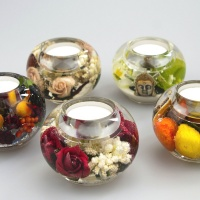 A Beautiful collection of botanical ball shaped tea light holders