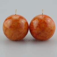 Ball Candles Burnt Orange