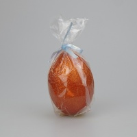 Egg shaped glittery Copper Candle