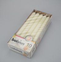 Pack of 10 Ivory Straight Dinner candles