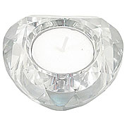 Glass Heart Tea Light Holder