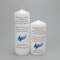 Wedding Absence candle with Butterflies