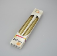 Pack of 2 Gold metallic taper dinner candles