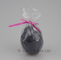 Egg shaped glittery Granite black candle