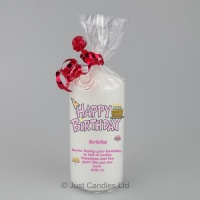 Customisable happy birthday greeting Candle