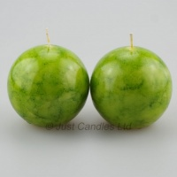 Ball Candles Lime Green