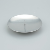 Ball Candle plain Spiked Saucer silver