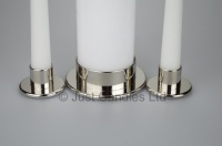 High quality Unity candle holder  with bright Nickel finish