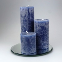 Rustic Pillar set of 3 Dark Blue