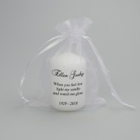 Small memorial candle with verse ''When you feel low''