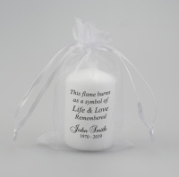 Small memorial candle with verse ''symbol of Life''