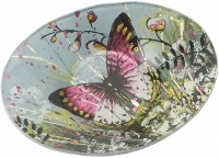 Oval Bowl for Ball Candle - Butterfly